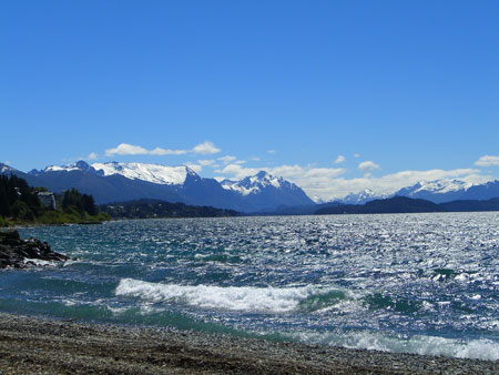 The shores of the lake in Bariloche, Argentina