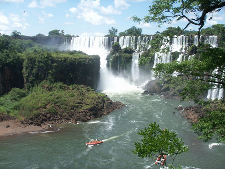 The Iguazu boat tours from above