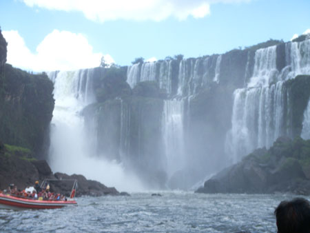 Iguazu fallss from the boat