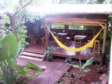 The awesome patio at Timbo Posada in Puerto Iguazu