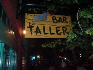 El Taller Bar, in Plaza Serrano Buenos Aires