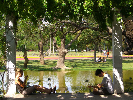 Escaping the heat in the parks of Palermo