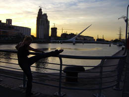 After the nightlife: Sunrise over Puerto Madero