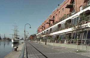 The Puerto Madero boardwalk is great for running.