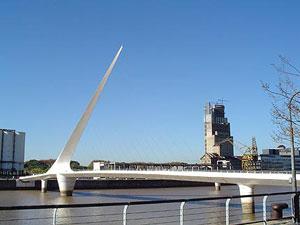 El Puente de la Mujer (Woman's Bridge) in Buenos Aires