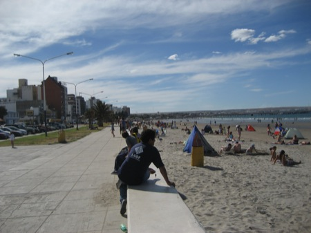 Loungin' at a Puerto Madryn Beach