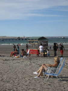 Sunbathing on the beaches of Puerto Madryn