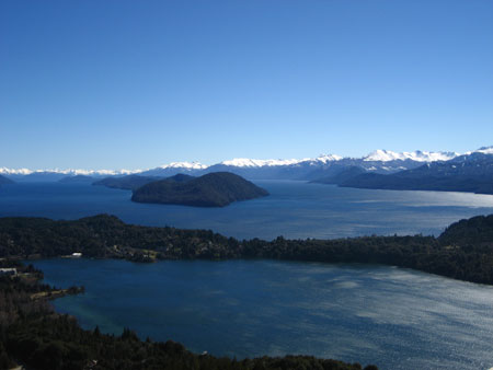 View of the lakes from the Circuito Chico, Bariloche