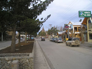 El Calafate, avenida San Martin.  Courtesy of Heretiq
