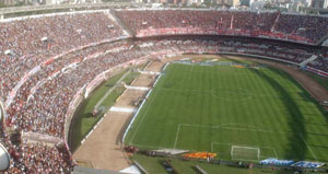The Estadio Monumental of River Plate in Buenos Aires
