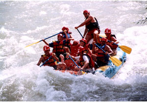 Rafting on the Rio Mendoza