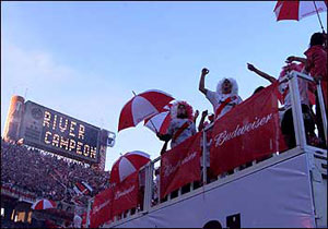 Fans or Argentine Soccer team River Plate